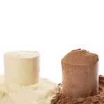 34971324 - close up of protein powder and scoops